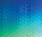 Colourful, abstract, triangle geometric background.
