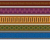 Colourful Henna Border
