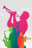 Colourful Jazz band