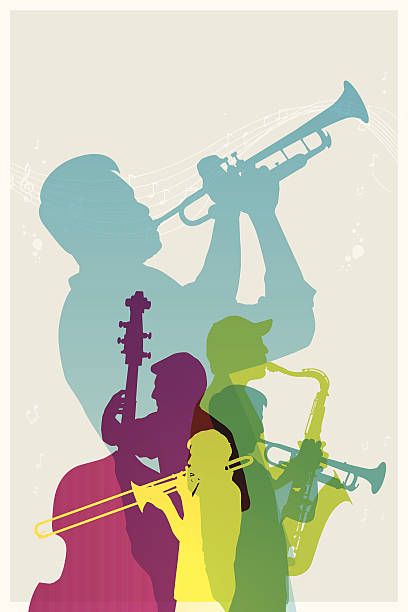 Coloré groupe de Jazz - Illustration vectorielle