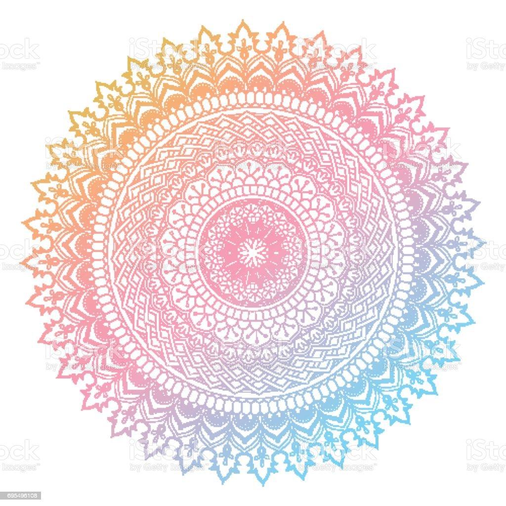 Vetores De Desenho De Mandala Colorida E Mais Imagens De Abstrato