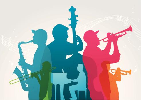 Colourful music band