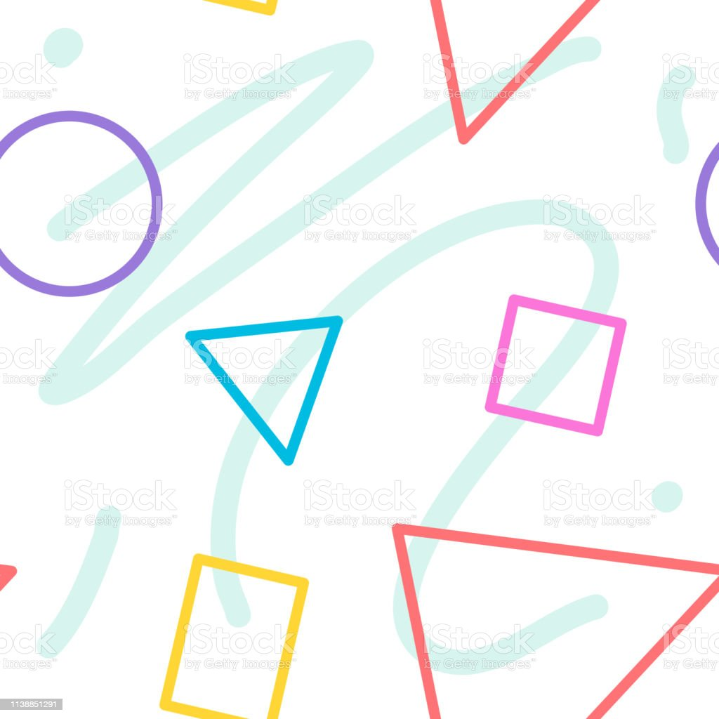 Ilustracion De Colorido Pastel Inconsutil De Mezcla Plana