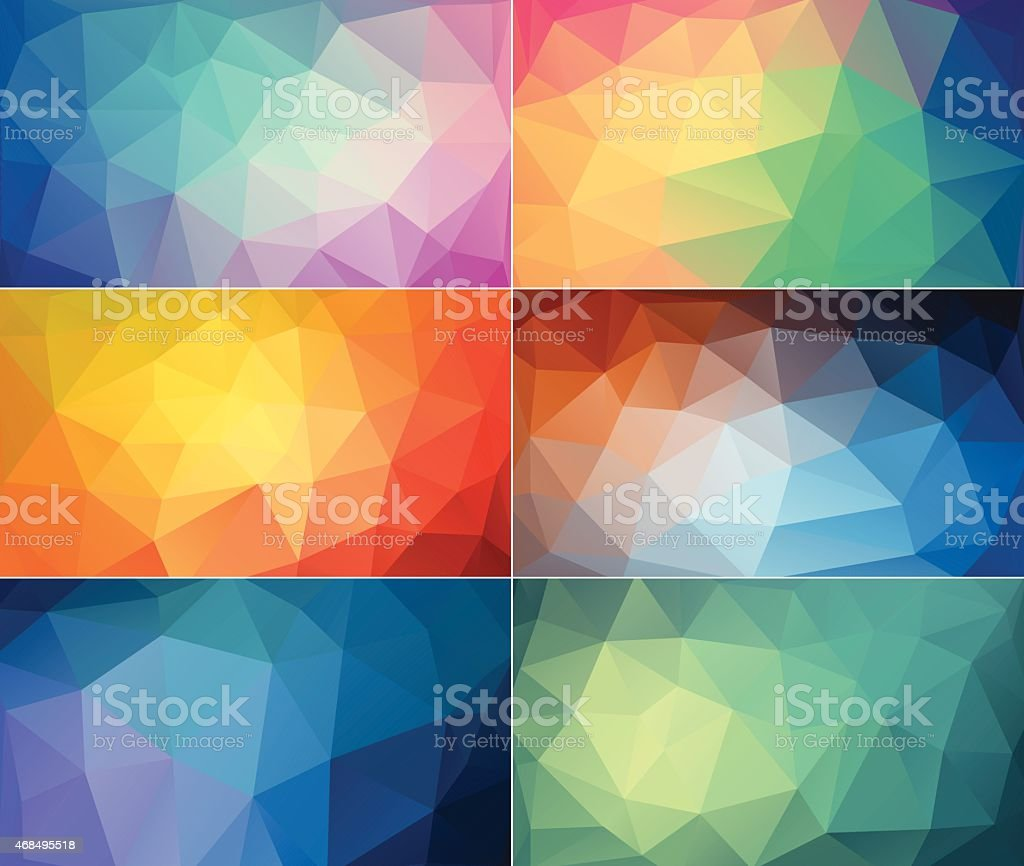 Colourful polygon abstract backgrounds vector art illustration