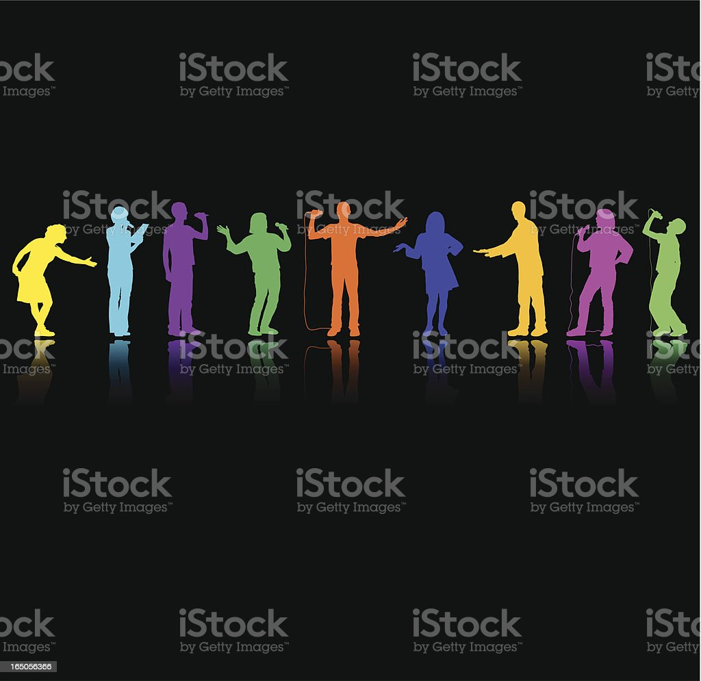 Colourful Presenters royalty-free stock vector art