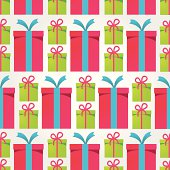 Colourful presents background