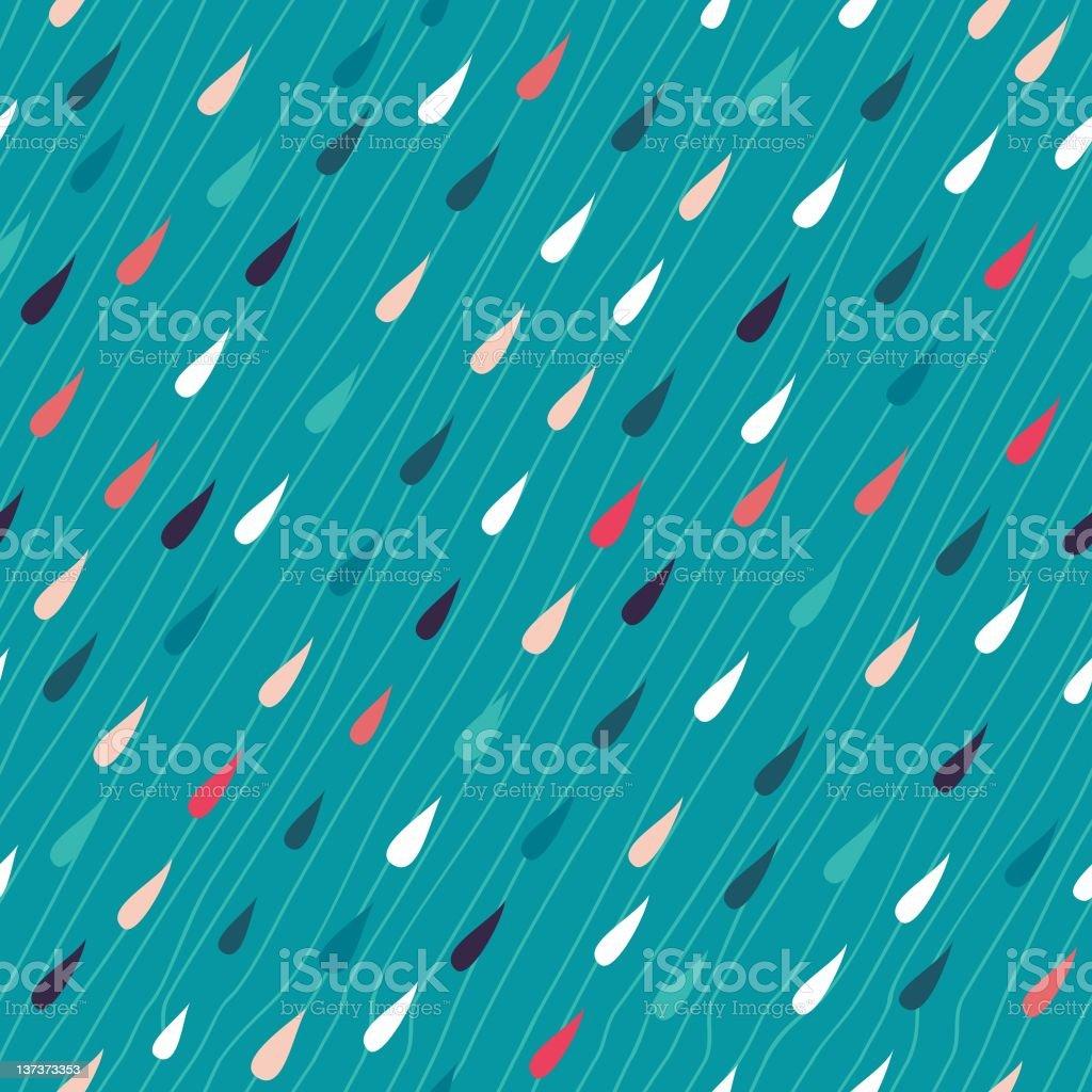 colourful rain seamless pattern vector art illustration