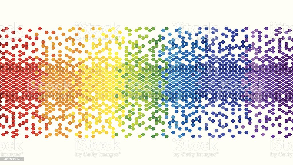 Colourful Rainbow Pixel Background vector art illustration