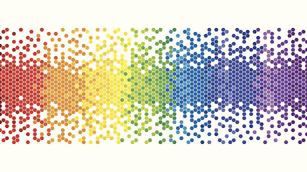 Fondo colorido arco iris píxeles - ilustración de arte vectorial