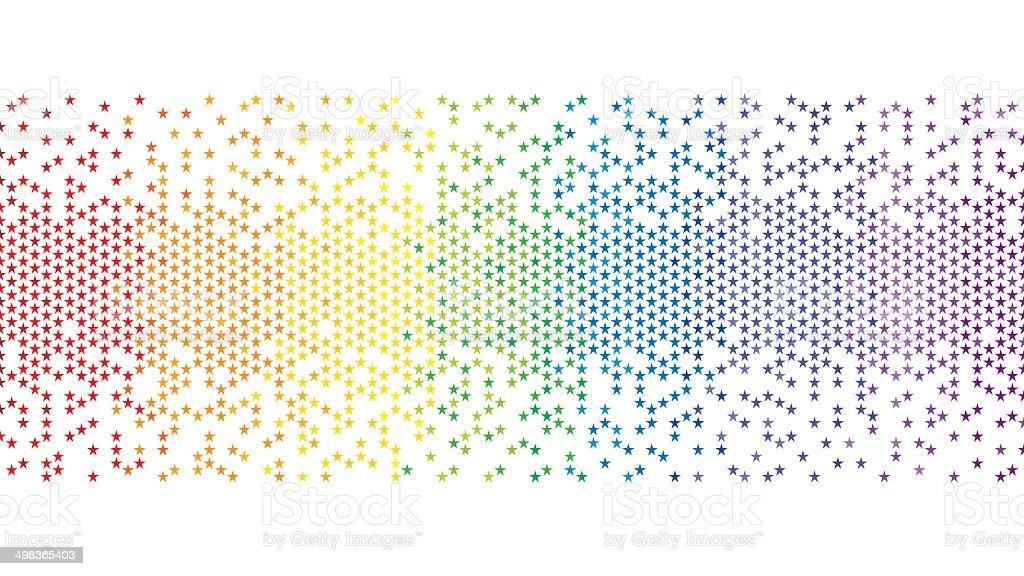 Pixel Coloré Fond Détoiles Arcenciel Vecteurs Libres De