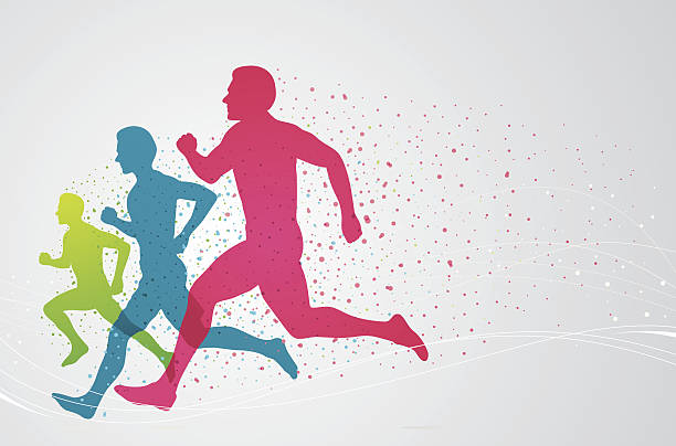 カラフルなランナー - 陸上競技点のイラスト素材/クリップアート素材/マンガ素材/アイコン素材