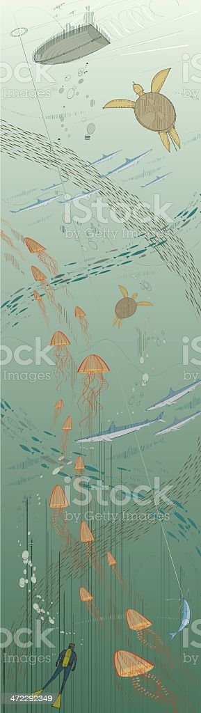 Colourful Sea Life Background royalty-free stock vector art