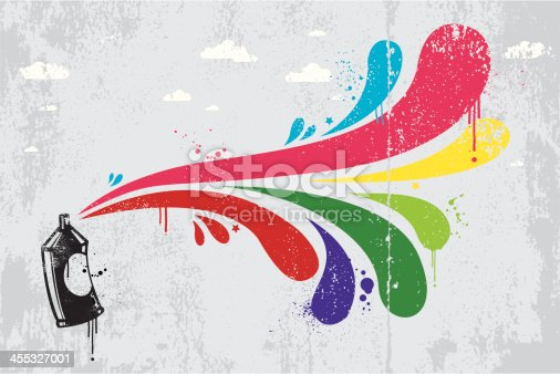 Multi coloured graffiti theme vector background. All design elements are layered and grouped. Included files are aics3 and hi-res jpg.