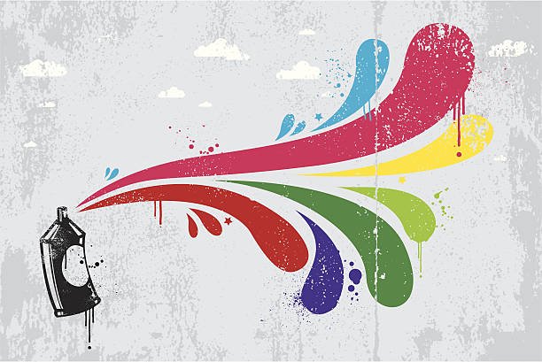 colourful spray graffiti background - urban fashion stock illustrations, clip art, cartoons, & icons