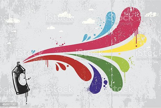 Spray Fond Graffiti Coloré Vecteurs libres de droits et plus d'images vectorielles de Abstrait