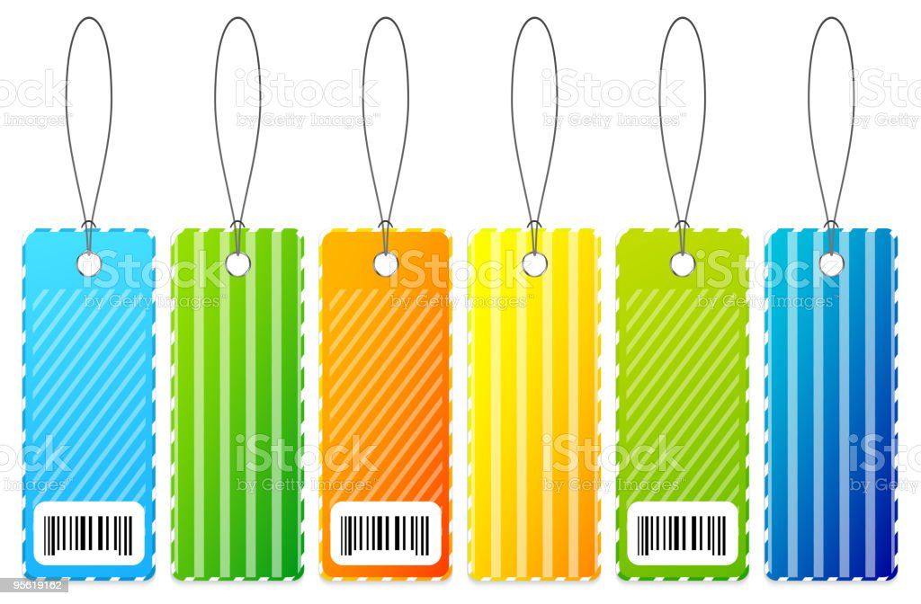 Colourful tags royalty-free stock vector art