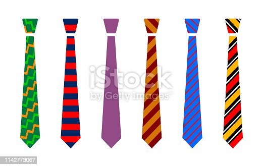 Colourful tie set