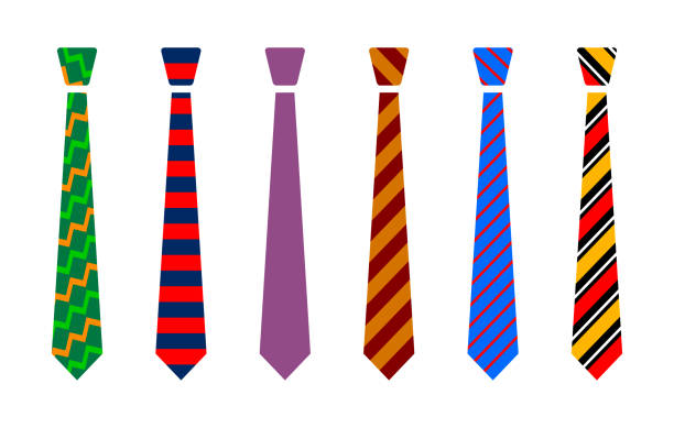Colourful tie set Colourful tie set neck stock illustrations