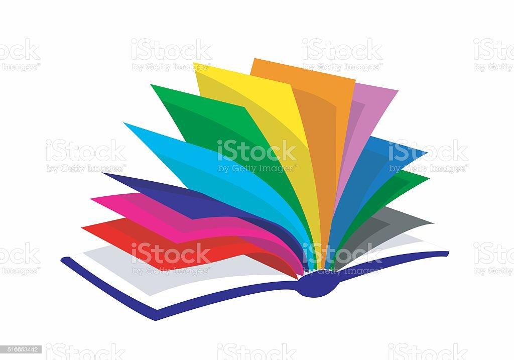 colourfull book vector art illustration