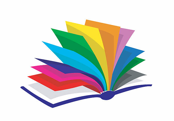 stockillustraties, clipart, cartoons en iconen met colourfull book - prentenboek
