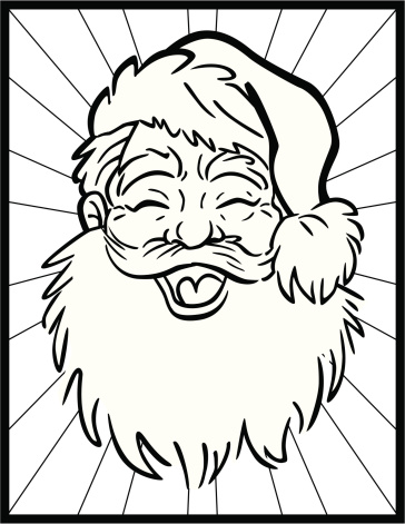 Colouring Book Santa Head