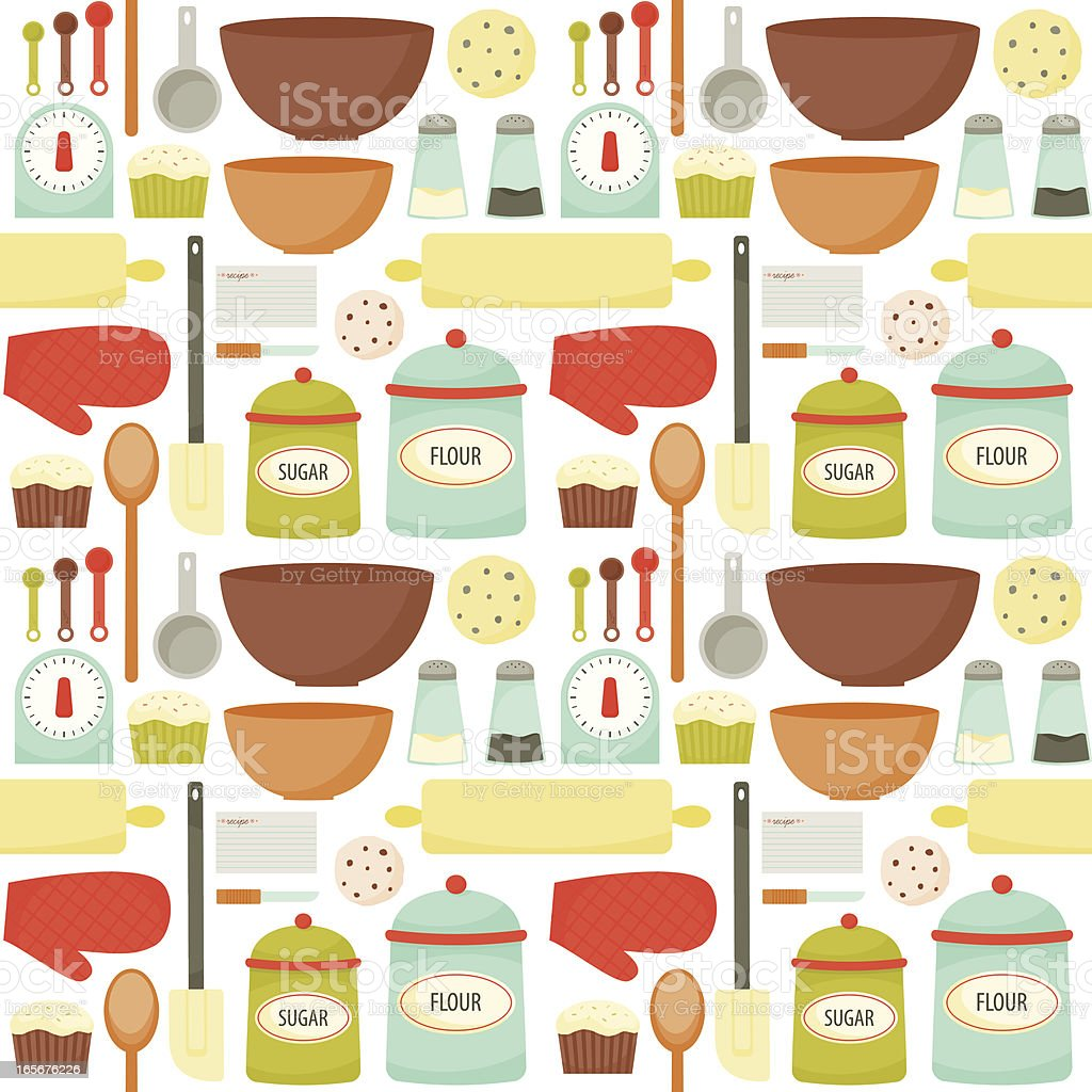Colrful Baking Pattern vector art illustration