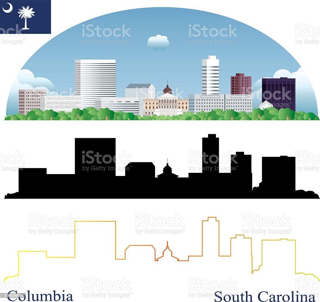 Columbia Skyline vector art illustration
