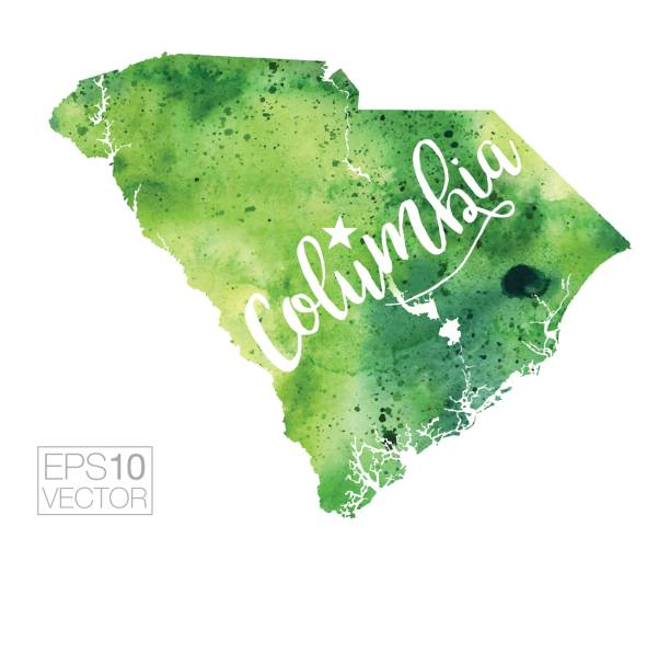 Columbia South Carolina Clip Art Vector Images Illustrations - Columbia in usa map