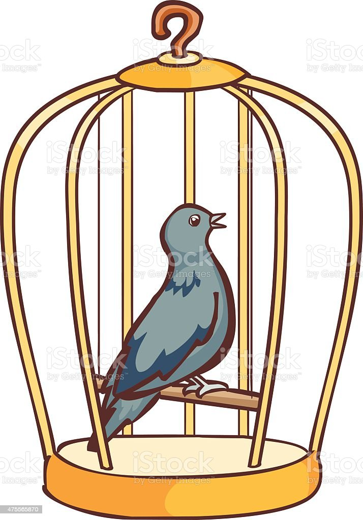 columbidae bird singing in the cage vector stock vector art more
