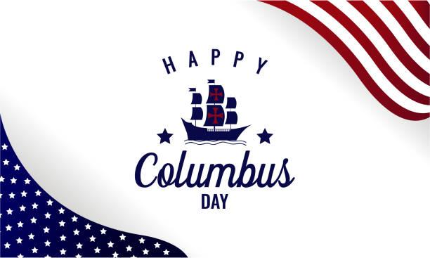 콜럼버스 데가 배경. - columbus day stock illustrations