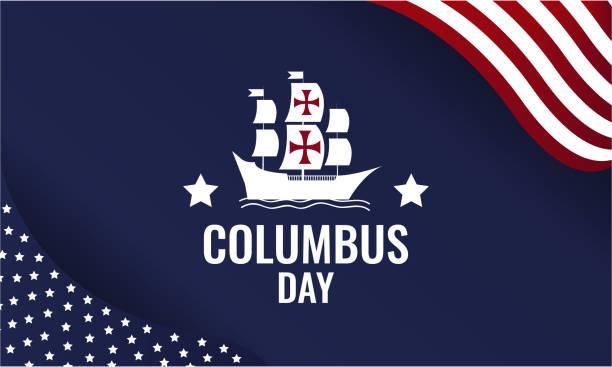 콜럼버스 데가 블루 - columbus day stock illustrations