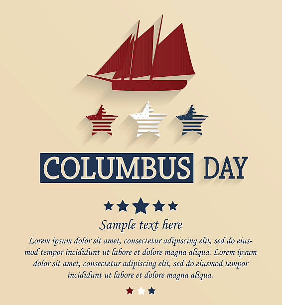 columbus dzień karty - columbus day stock illustrations