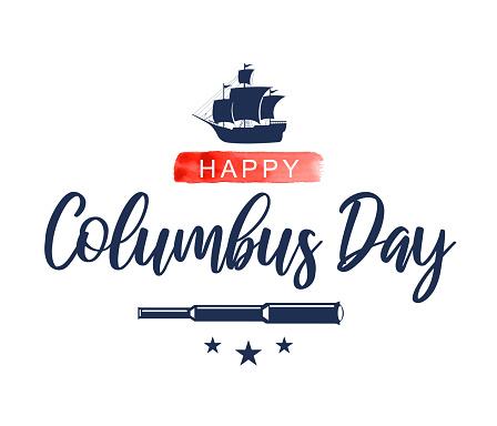 Columbus Day card. Vector