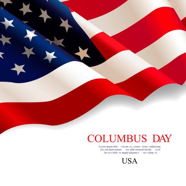 kolomb günü. bayrak abd - columbus day stock illustrations