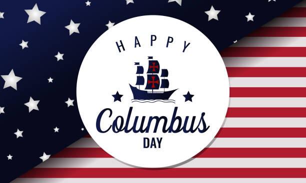 콜럼버스의 날 - columbus day stock illustrations