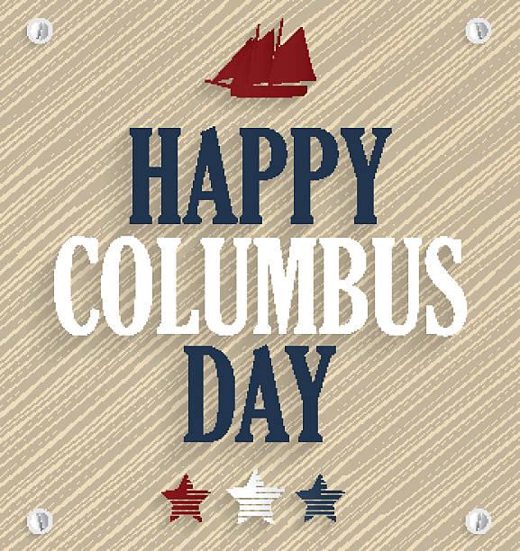 columbus dzień. drewniane tła z statku - columbus day stock illustrations