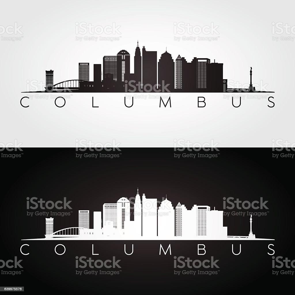 Columbus USA skyline vector art illustration