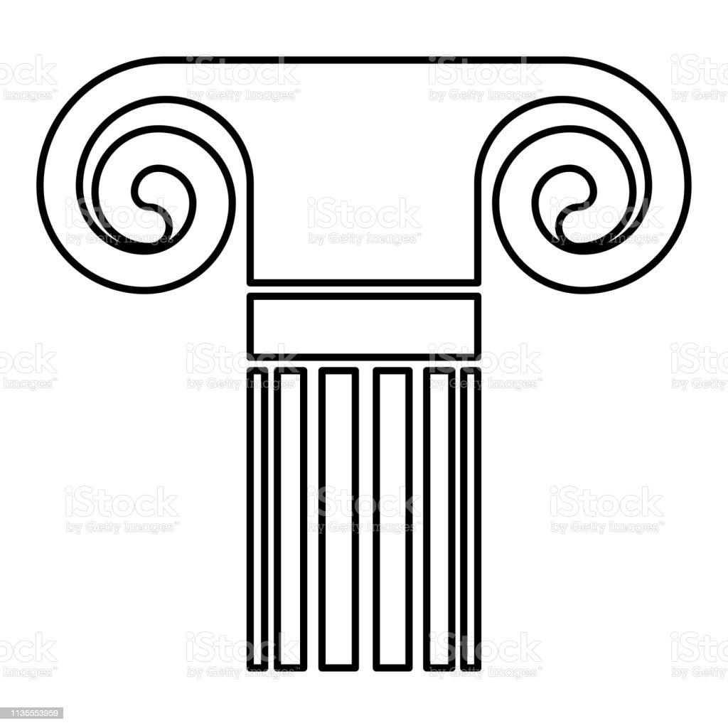 Column ancient style Antique classical column architecture element...