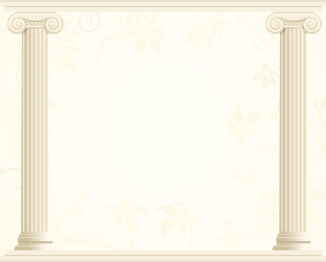 Column Border with Ivy Background