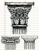Column Capital sketches