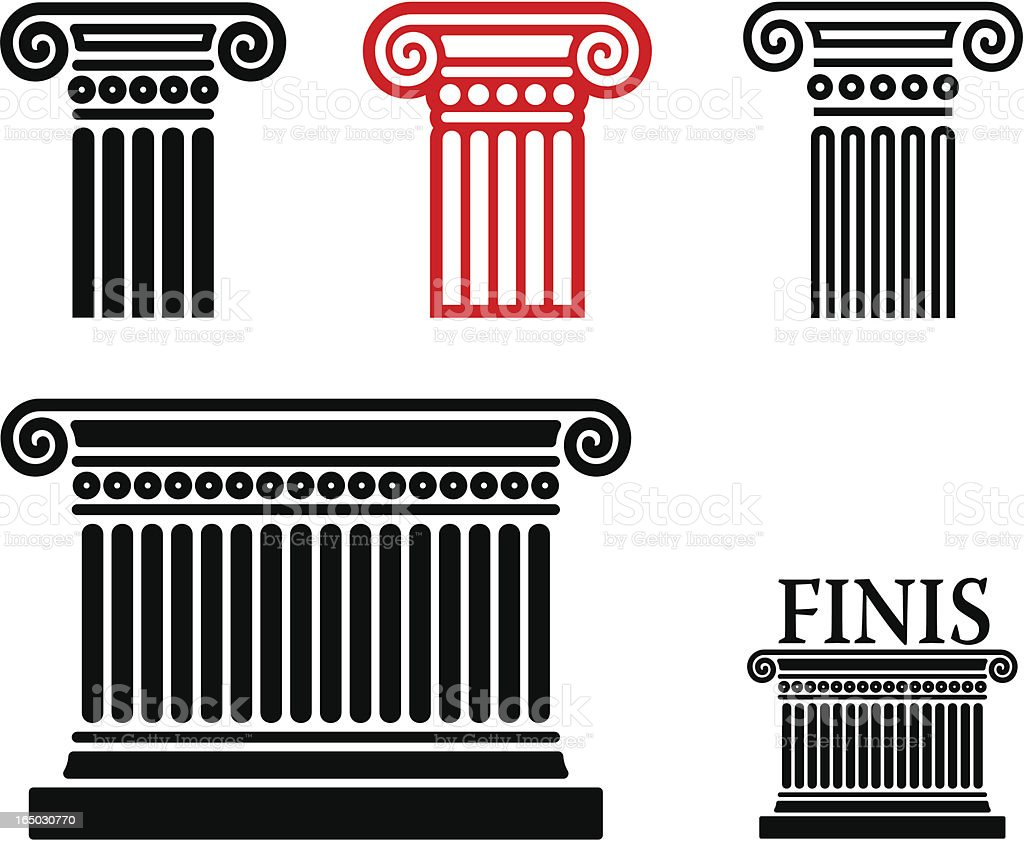 column elements vector art illustration