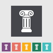 Column flat single icon.