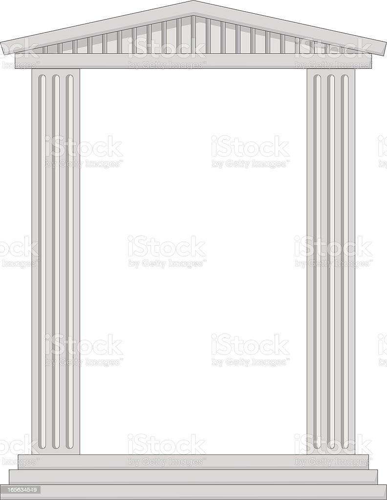 column frame royalty-free stock vector art