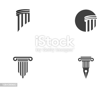 Column icon Logo Template vector illustration design