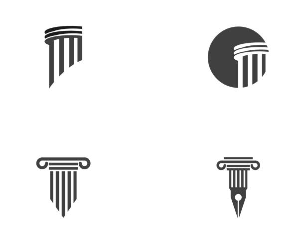 column icon vector illustration design - architecture symbols stock illustrations