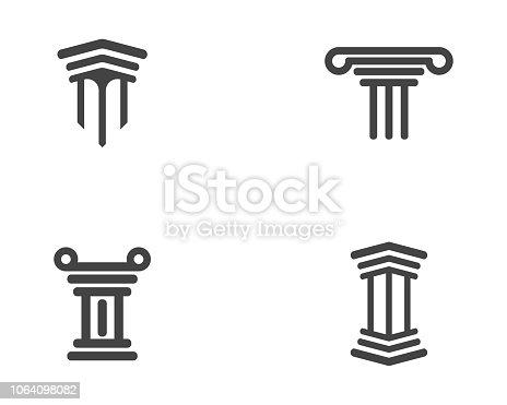 Column icon Logo Template vector illustration design