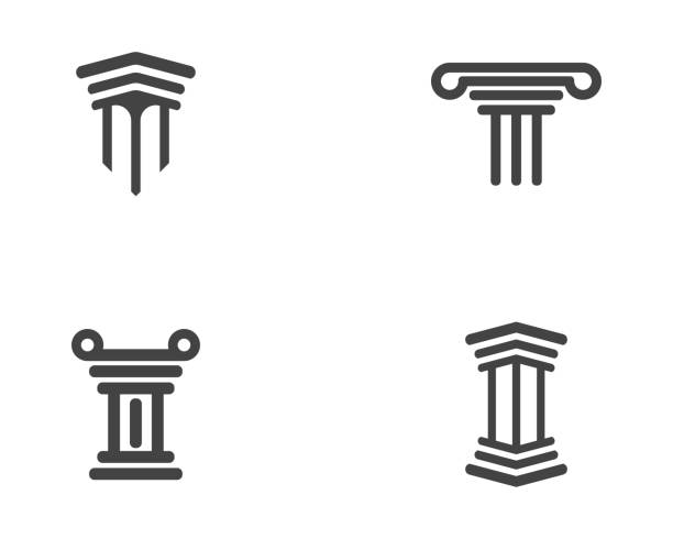bildbanksillustrationer, clip art samt tecknat material och ikoner med stapelsymbol ikonen vektor illustration - lawyer