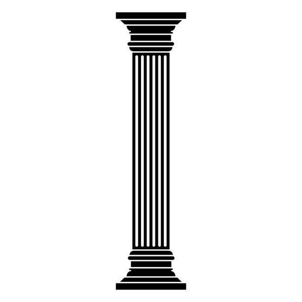 흰색 배경 열 icono - 기둥 stock illustrations