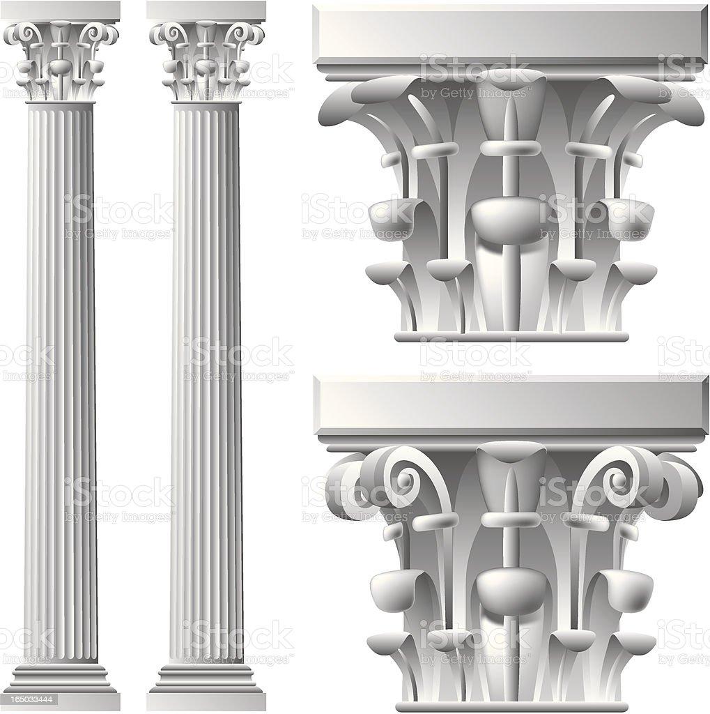 column royalty-free stock vector art