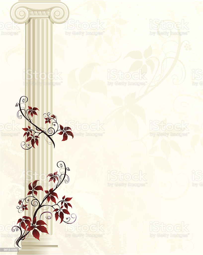 Column with Red Ivy royalty-free column with red ivy stock vector art & more images of abstract